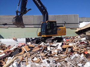 Demolition by Darrow Bros Excavating